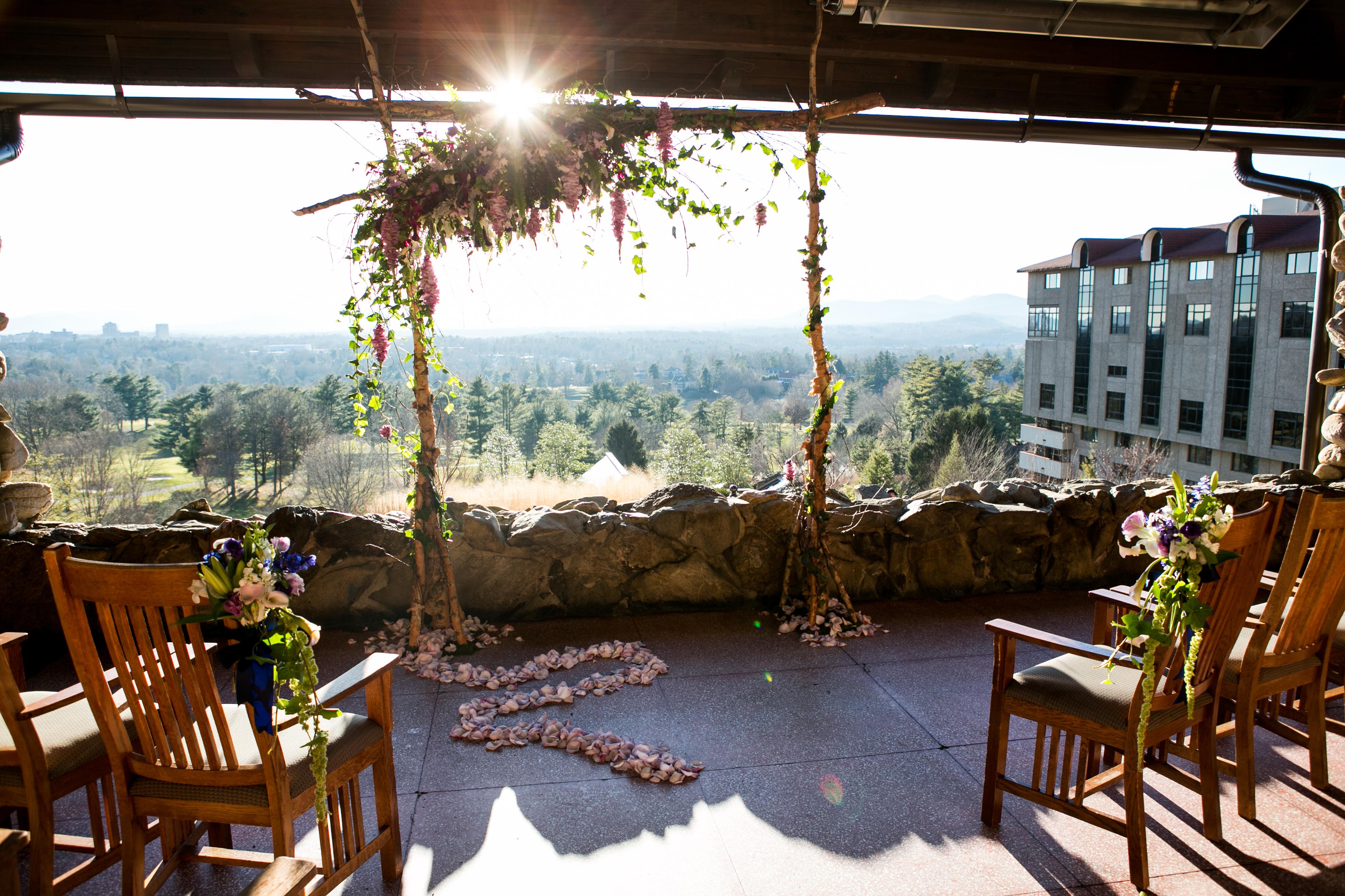 grove park inn sunset terrace wedding planning and design